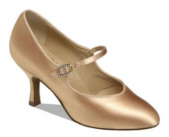 "101225 - Supadance Flesh Satin Court 2.5"" Contour Heel"