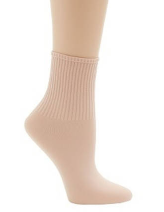 BG022C - Childs Ribbed Ballet Socks