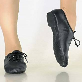 JZE09 - Leather Lace Up Jazz Shoe