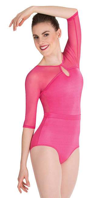 3/4 sleeve Mesh Leotard by Bodywrappers