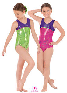 30875C - Eurotard Metallic Splatter Two Tone Tank Leotard