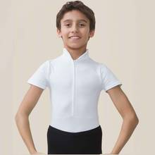 EndoChild - Ballet Rosa Short Sleeved High Neck Boys Leotard