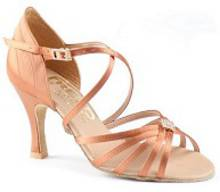 Lois - Tan Satin Sandal with Back Detail