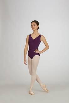 TC0002 - Adults V-Neck Pinch Front Leotard