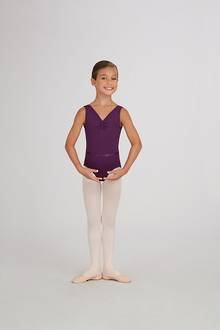 TC0002C - Childs V-Neck Pinch Front Leotard
