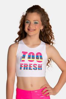 Too Fresh Crop Singlet