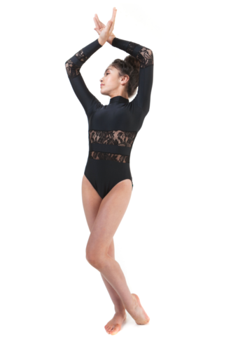 Eden Dancewear  Lace Long sleeve leotard