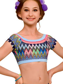 Cancun crop top by Strut Stuff